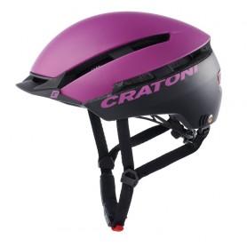 Cratoni Fahrradhelm C-Loom (City) Gr. S/M (53-58cm) purple/schwarz matt