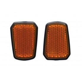 Seitenreflektoren f.Six Degrees Velo E-7 gelb, per Paar