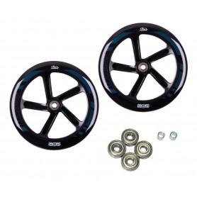Hudora Ersatzrollenset für Big Wheel 205 205 mm Ø schwarz f.Mod.14784