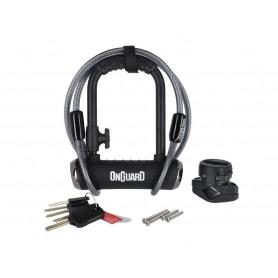 Onguard Bügelschloss Pitbull MiniDT8008X 90 x 140mm, Ø 14mm, mit Seil und Halter