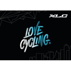 XLC Teppich love cycling 83x120cm, schwarz/weiß/blau