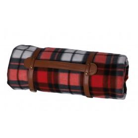 Picknickdecke Winora rot/grau/weiss, 200x200cm
