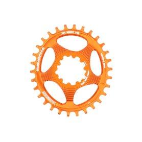 Blackspire Chainring Snaggletooth Oval SRAM Spline 30 Z 3 mm Offset orange