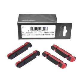 Campagnolo Brake shoe Carbon Rim Shimano 4 pieces red
