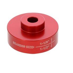 Wheels MFG headset press adapter bearing red