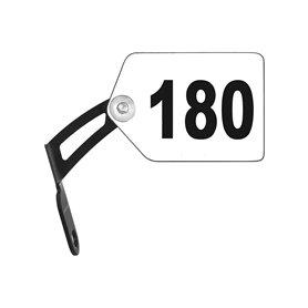 Trivio number bracket Aluminium black