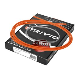 Trivio brake cable set complete MTB stainless steel orange