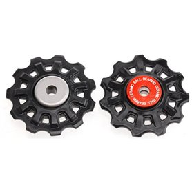 Campagnolo pulleys set Chorus / Record 12-speed black red