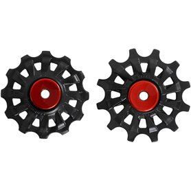 Campagnolo pulleys set Super Record 12-speed black red