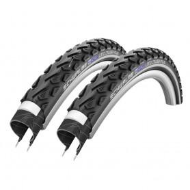 2x Schwalbe bicycle tyre LandCruiser Plus reflex wire 50-559 black