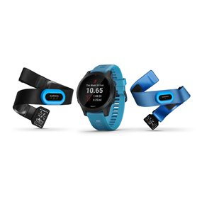 Garmin Forerunner 945 GPS Triathlonuhr Bundle HRM-Tri + Swim Brustgurt blau