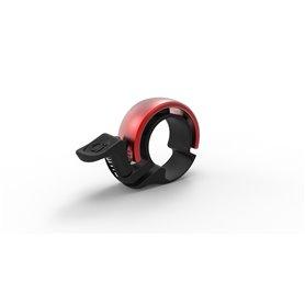 Knog Oi Classic Small Fahrradklingel 22.2mm schwarz rot