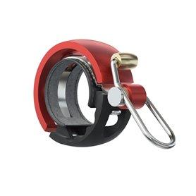 Knog Oi Luxe Small Fahrradklingel 22.2mm schwarz rot