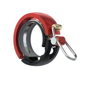 Knog Oi Luxe Large Fahrradklingel 23.8 - 31.8mm schwarz rot
