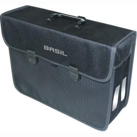 BASIL Side Bag Fabric MALAGA-XL- black, 17 liter