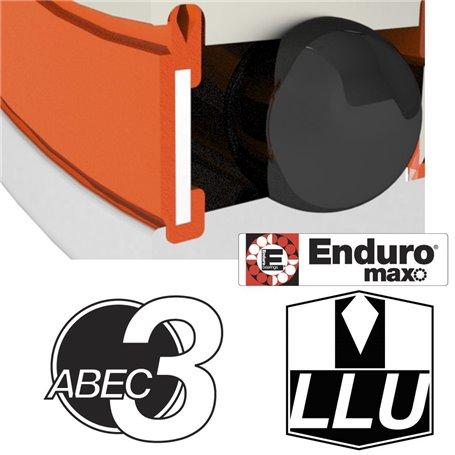 Enduro Bearings 608 LLU ABEC 3 MAX Lager 8x22x7