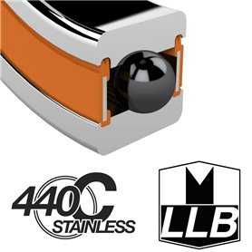 Enduro Bearings S6806 LLB Edelst. Steuers. Schrägkugellager 30x42x7 45°x1mm