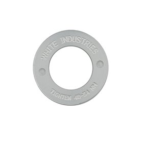 White Industries 4-Kant Extractor Caps silber