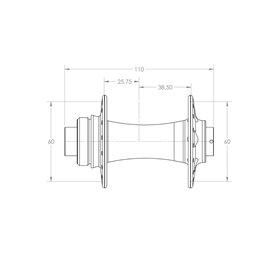 White Industries CLD+ Disc BOOST Nabe VR 110x15mm 32 L. schwarz