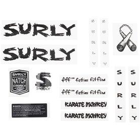 Surly Karate Monkey New Rahmen Decal inkl. Headbadge schwarz