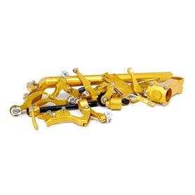 Paul Component Felgenbremsen-Spring/Adjuster Nuts Paar gold