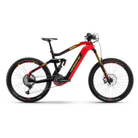 Haibike XDURO Nduro 10.0 i630Wh 2019/20/21 Flyon red carbon frame size 44cm