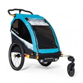"Burley Fahrrad-Kinder-Anhänger D`Lite X ""Aqua"" Single"