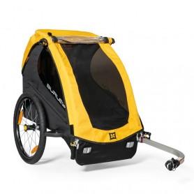 Burley Fahrrad-Kinder-Anhänger Bee Yellow, Single