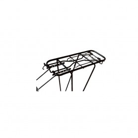 Luggage rack steel rear for 26 inches to 28 inches black