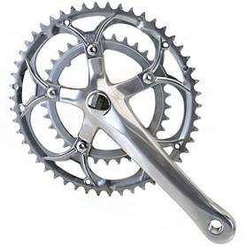 Fahrrad Kurbelsatz Renn Compact 2fach 34-50Z 170 mm silber