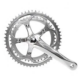 Bike Crankset, 2 spd. racing silver, 170 mm 42-52 teeth