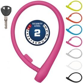 ABUS uGrip Cable lock 560 65cm long, Ø 8mm pink