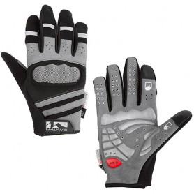 Bike gloves Gel + Protect size L grey black