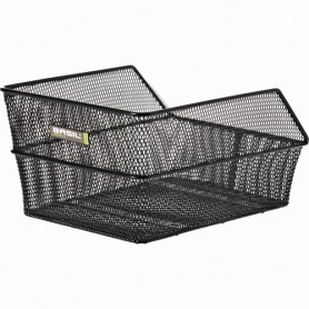 BASIL School/Bag Basket CENTO S fine steel mesh, black