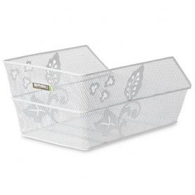 BASIL School/Bag Basket CENTO Flower fine steel mesh, white
