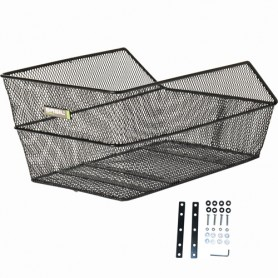 BASIL School/Bag Basket CENTO fine steel mesh, black