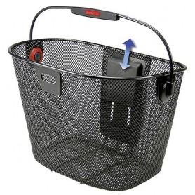 Rixen & Kaul Front basket KLICKfix UNILUX fine steel mesh, black