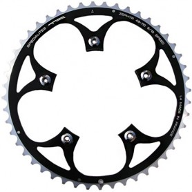 T.A. Chainring Zephyr 48 black 110 outer 9/10 speed