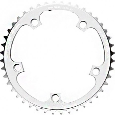 T.A. Chainring Single 42 silver, Ø 104 outer/inner
