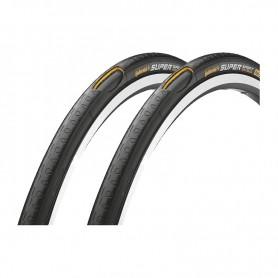 2x Continental Fahrrad Reifen Super Sport PLUS / 25-622 / 28 x 1.00 / Draht, schwarz / schwarz