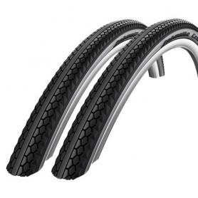 2x Schwalbe Fahrrad Reifen Century 50-622 28 / 29 x 2,0 Reflex schwarz-graphite
