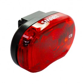 "Bike Battery rear light-Smart ""STAR"", with certif"