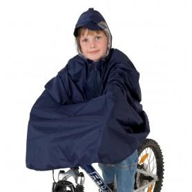 Kids waterproof poncho blue size M