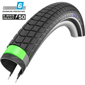 Schwalbe Big Ben Plus bicycle tyre 55-559 GG E-50 SnakeSkin wired reflective