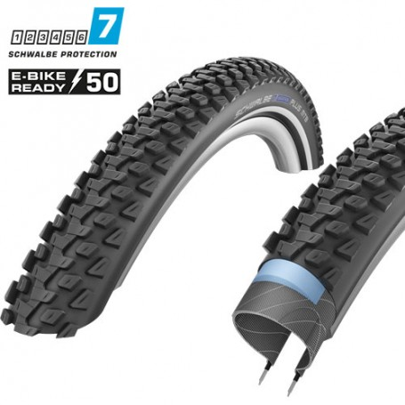 2x Schwalbe Reifen Marathon PLUS MTB 57-559 26 Zoll E-50 Draht Reflex schwarz