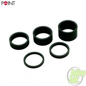 Carbon Distanzring-Set 1 1/8 Zoll 3 - 5 - 10 - 15 - 20 mm