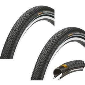 "2x Continental TopContact Winter Premium Fahrrad Reifen | 26"" | 26 x 2.0 | 50-559 | Falt, Reflex schwarz-skin"