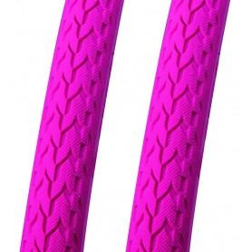2x Point Faltreifen Fixie Pops Trouble Bubble 700 x 24C pink