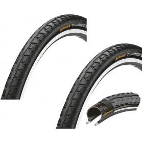 """2x Continental Tour Ride Fahrrad Reifen   28""""   28 x 1.10  28-622   Draht, Reflex schwarz"""