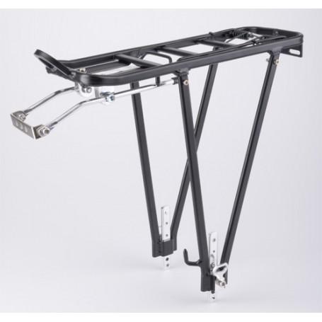 """Fahrrad Gepäckträger mit Federklappe silber Aluminium 24 26 28 /"""""""
